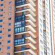 Stock Photo: Balconies on Modern Brick High Rise