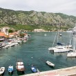 Yachts and Cruise Ships in Kotor Bay — Stock Photo