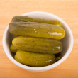 Dill Pickles in White Bowl — Stock Photo #40842829