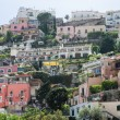 Colorful Homes up Hill in Positano Italy — Stock Photo