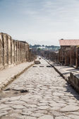 Ancient Street of Pompeii Toward Vesuvius — Stock Photo