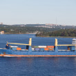 Stock Photo: Freighter in Blue Water off Canada