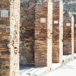 Numbered Plaques in Pompeii Columns — Stock Photo #41205781
