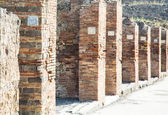 Numbered Plaques in Pompeii Columns — Stock Photo