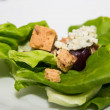 Stock Photo: Lettuce with Croutons and Blue Cheese