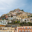 Positano on Hill with Colorful Homes — Stock Photo
