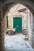 Three Wheeled Bike with Cart — Stock Photo