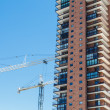 Construction Cranes by Condo Tower — Stock Photo