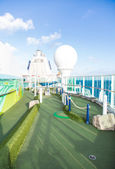 Green Miniature Golf Course on Cruise Ship — Stock Photo