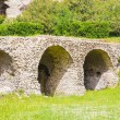 Stock Photo: Green Meadow by Ancient Stone Pompeii Arches