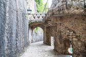 Stone Walkway and Walls in Kotor — Stock Photo