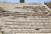 Zeď kámen a malty v pompejích — Stock fotografie