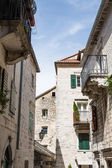 Iron Balconies in Kotor — Stock Photo