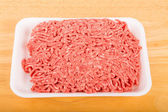 Fresh Ground Beef on Tray — Stock Photo