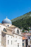 Dubrovnik Dome and Green Hill — Stock Photo