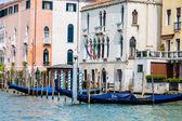 Gondolas by Venetian Hotel — Stock Photo