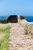Stone and Mortar Walkway Overlooking Sea — Stock Photo