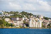 Coloful Resorts on Coast of Martinique — Stock Photo