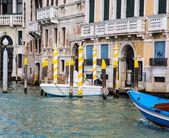 Yellow and White Gondola Poles — Stock Photo