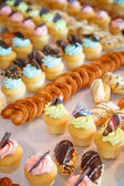 Rows of Sweet Pastries — Stock Photo
