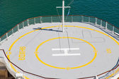 Helicopter Pad on Bow of Cruise Ship — Stock Photo