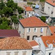 Many Red Tile Pipe Roofs in Croatia — Stock Photo #46797379
