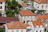 Many Red Tile Pipe Roofs in Croatia — Stockfoto
