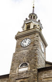 Old Stone Clock Tower in Portland — Stock Photo