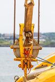 Yellow Hardware on Ship — Stock Photo