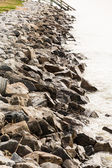 Wet Seawall in Morning Light — Stock Photo