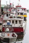 Port Security Fire Boat and Ferry at Dock — Stockfoto
