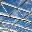 White Steel and Glass Atrium Roof — Stock Photo #48990077
