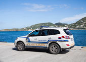 St Maarten Customs on Pier — Stok fotoğraf