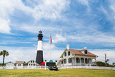 Tybee Lighthouse and Keepers House — Stock Photo