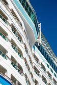 Decks on Curving Bulkhead of Cruise Ship — Foto Stock