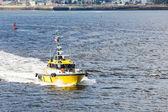 Yellow Pilot Boat Crossing Bay — Stock Photo