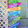 Colorful Beach Sign — Stock Photo #50242011
