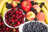 Fresh Whole Fruit Background — Stock Photo