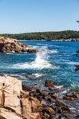 Splashing Surf Among Rocks — Stock Photo