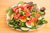 Green Salad with Red Tomatoes — Photo