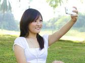 Self photographing — Stock Photo