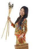Happy Malay woman — Stock Photo
