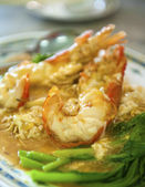 Fresh Water Prawn Noodles — Stock Photo