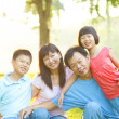 Asian Family Outdoor Lifestyle — Stock Photo