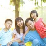 Asian Family Outdoor Lifestyle — Stock Photo #12383718