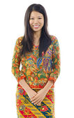 Asian woman in batik — Stock Photo