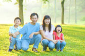 Outdoor family — Stock Photo