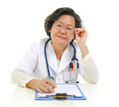 Asian senior female doctor — Stock Photo