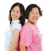 Portrait of two Asian women — Stock Photo