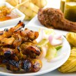 Satay chicken — Stockfoto